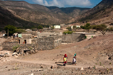 Typical town setting in the outlying areas of Djibouti.