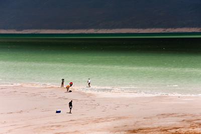 Lake Assal. Djibouti, Africa.