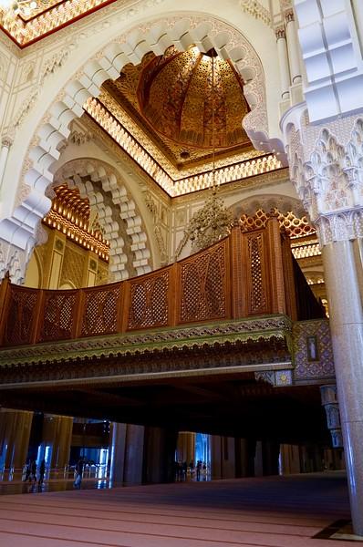 Sultan Hassan II mosque interior