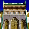 The monumental gateway to the royal palace of the king of Morocco in Fes