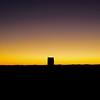 Desert tower at sunset
