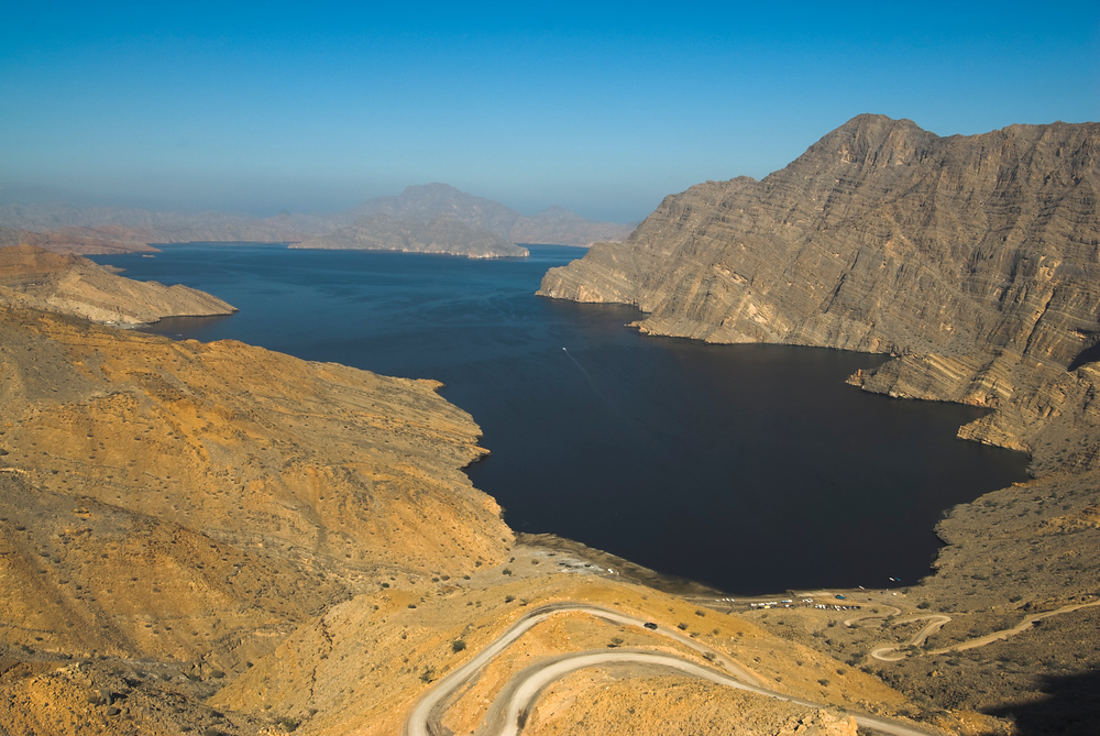 Fjord in the Musandam Peninsula, Oman