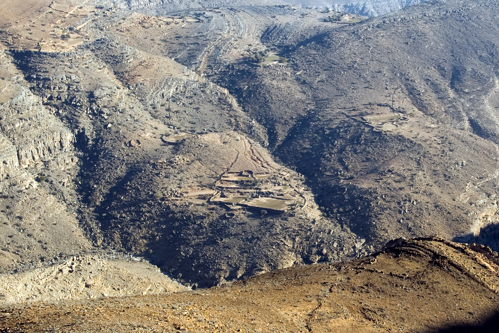 Terraces in the Hajar Mountains of Oman