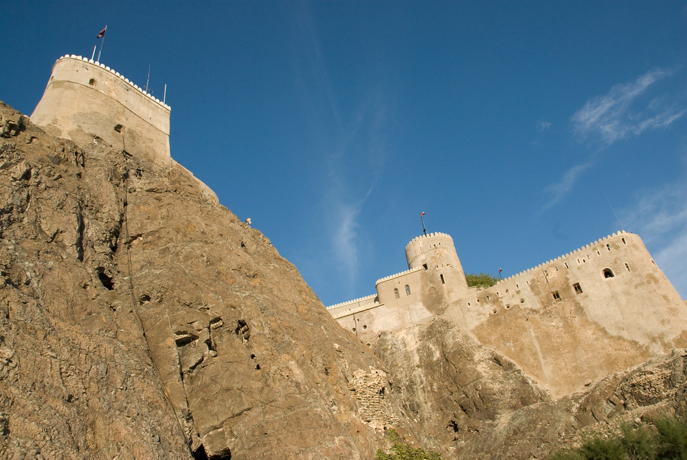 Hilltop fort in Muscat, Oman