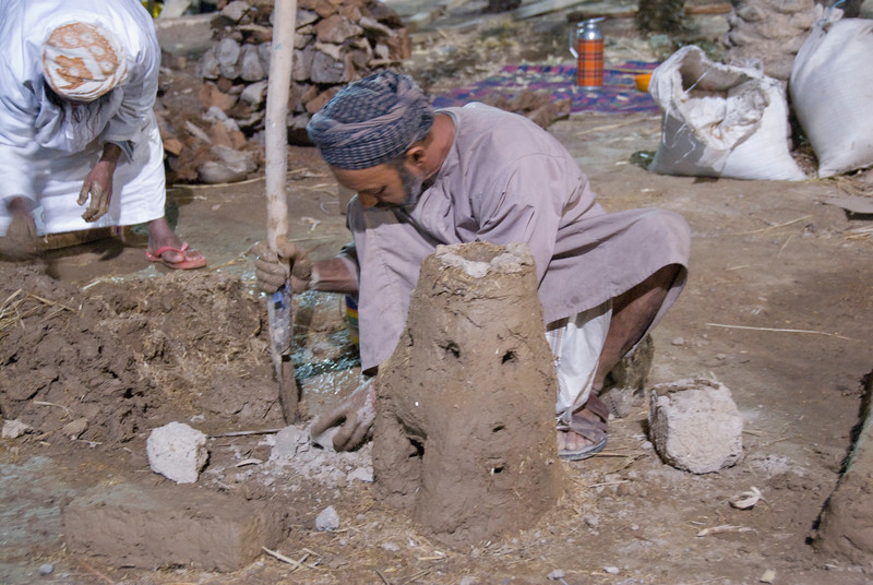 Making clay in Muscat, Oman