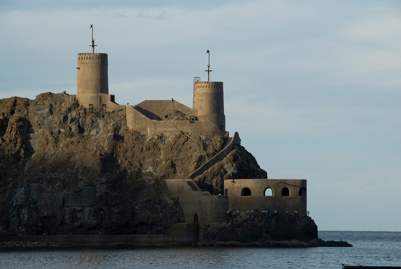 Fort near Muttrah Bay in Muscat, Oman