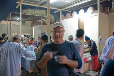 Eating hawla in Muscat, Oman
