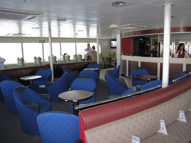 Inside ferry in Muscat, Oman