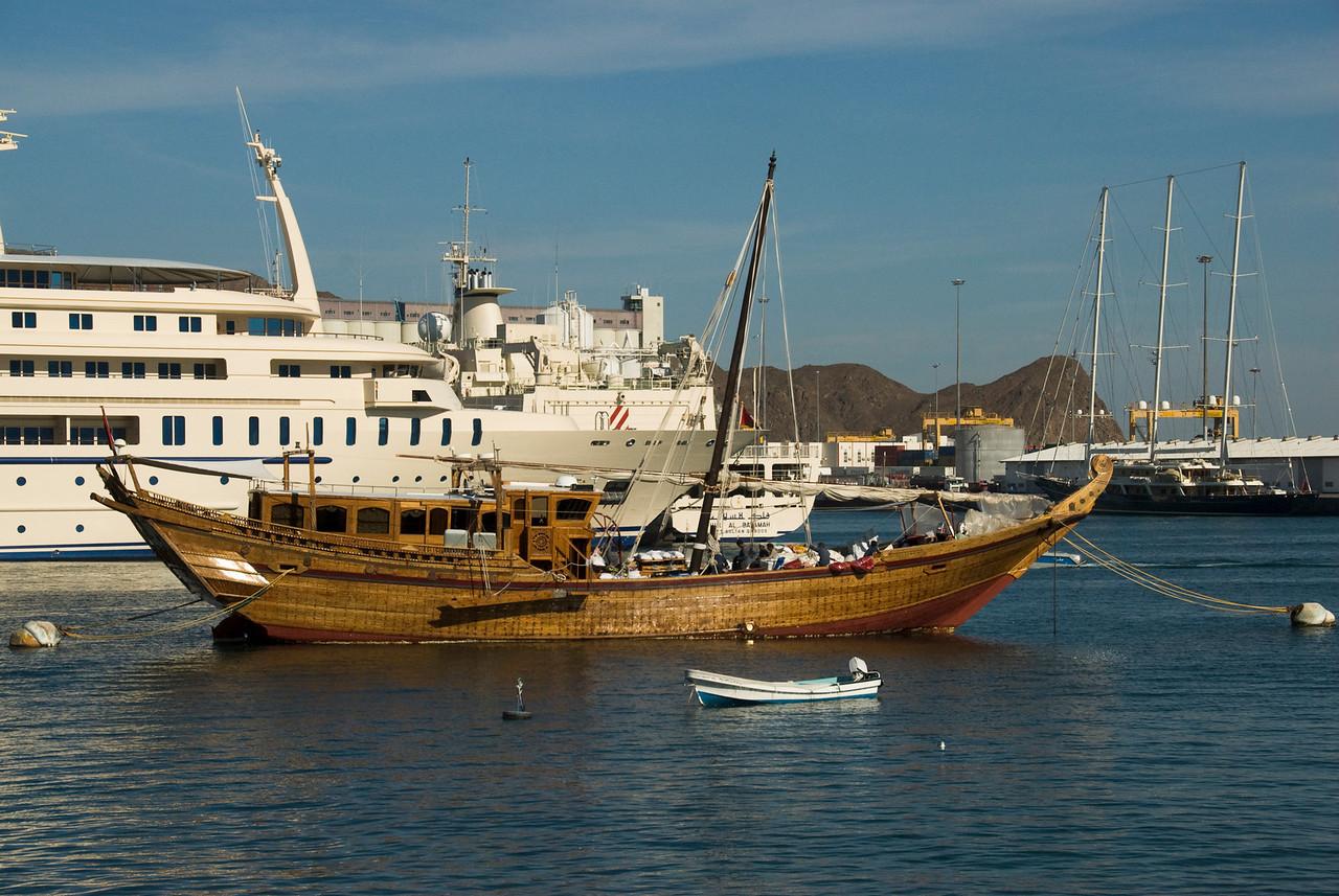 Ship in Muttrah Bay - Muscat, Oman
