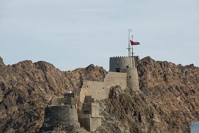 Fort near Muttrah Bay in Muscat, Oman
