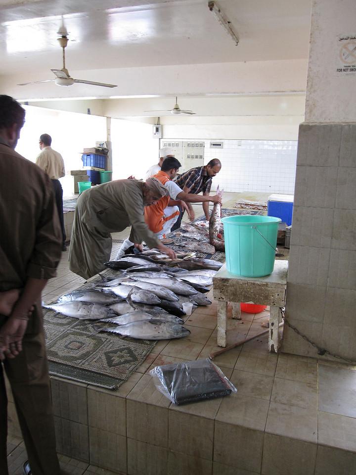 Fish market in Muscat, Oman
