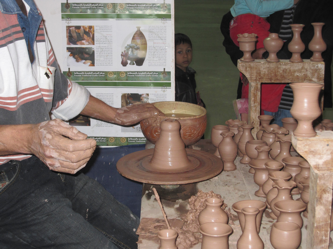 Pottery making in Muscat, Oman