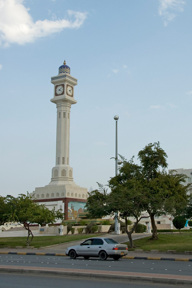 Clock tower in Muscat, Oman