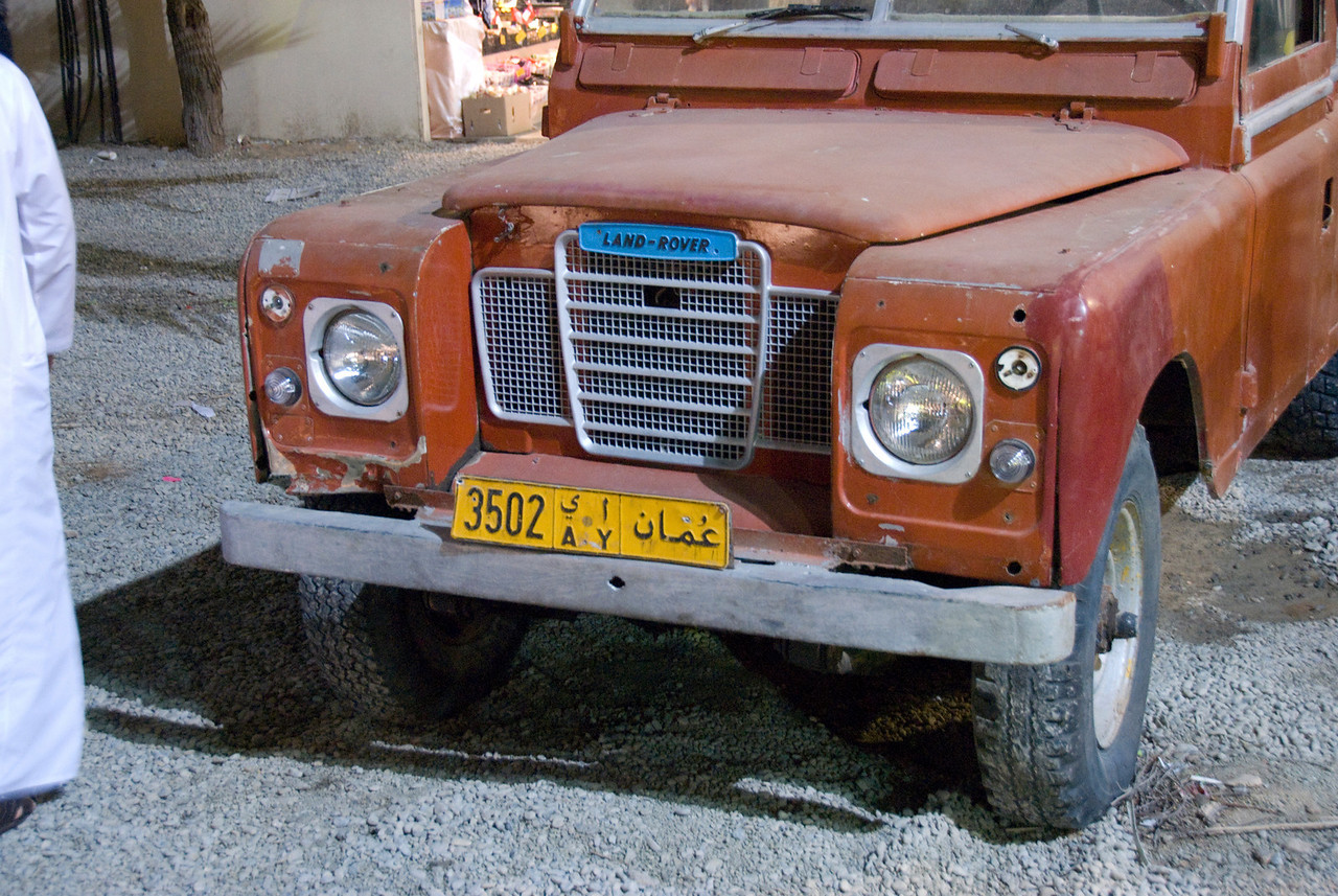Land rover in Muscat, Oman