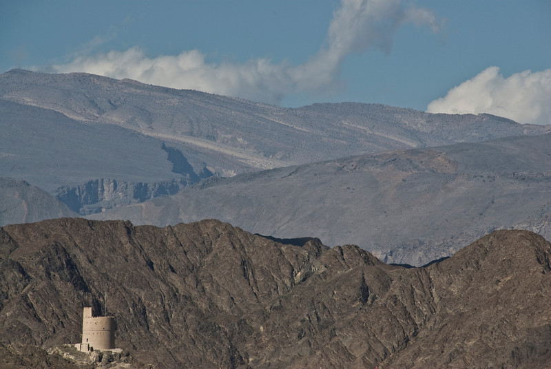 View of mountain from the fort - Nizwa, Oman