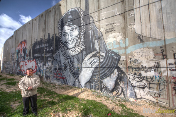 Our Palestinian guide and the Wall