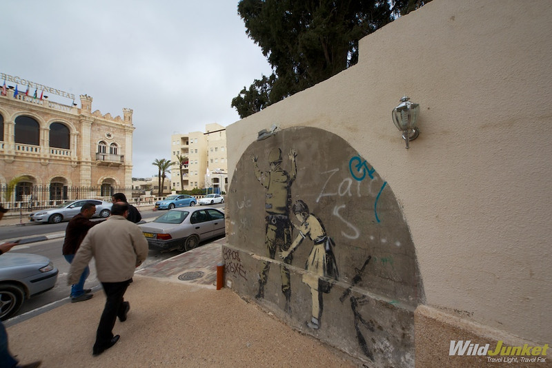 Banksy art work in Palestine