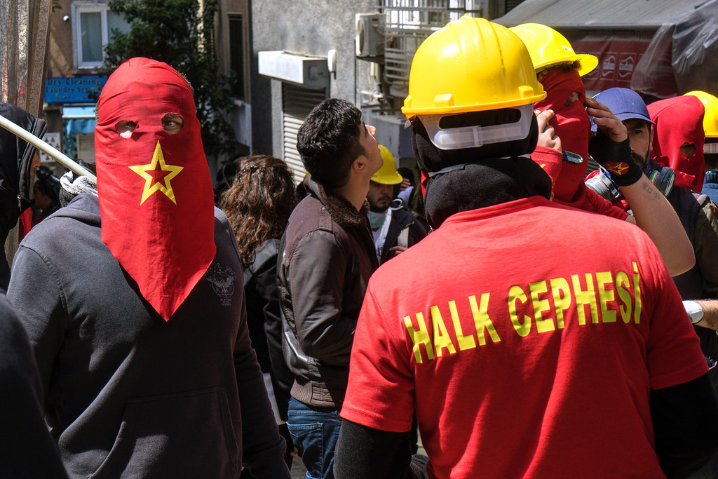Masked Protesters Istanbul