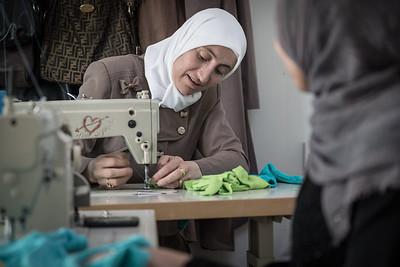October 4, Za'atari Refugee Camp in the North of Jordan, home to over 80,00 Syrian Refugees.  Copyright: UNWomen / Christopher Herwig