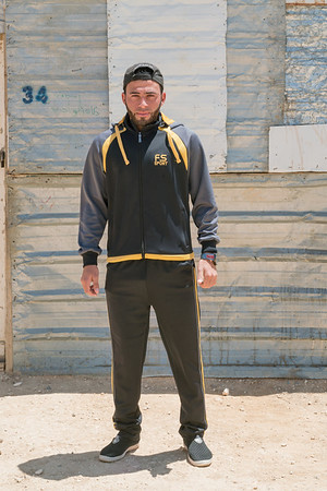 Issam Al Masri 22 yr old footballer (midfielder), Syrian Refugee living in Zaatari Refugee Camp in Jordan.