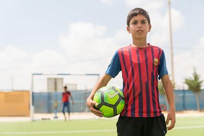 Boys football Za'atari Refugee camp