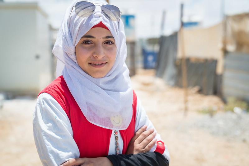 Girls football in Za'atari Refugee camp