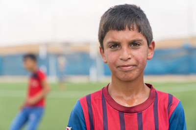 Boys football Za'atari Refugee camp