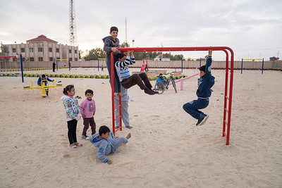 Newly opened playground built by UNICEF in Ruwaished.
