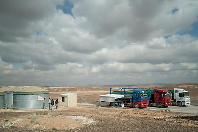 Water distrubution at Azraq Refugee Camp in Jordan.
