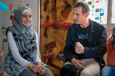Unicef Goodwill Ambassador Liam Neeson visits Jordan