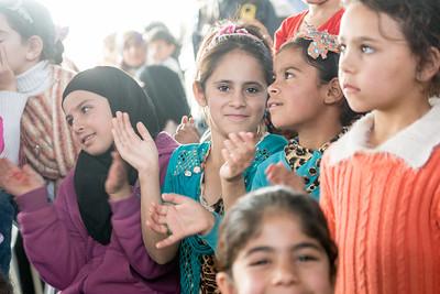 Celebration at an IMC - Unicef Makaani center in Za'atari Refugee camp, November 20, 2016.