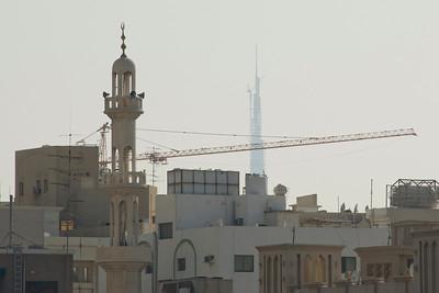 Mosque, Crane, and Tower - Dubai, UAE