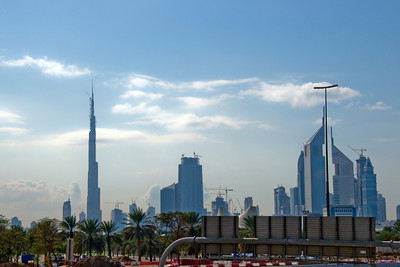 Skyline and Burj Dubai - Dubai, UAE
