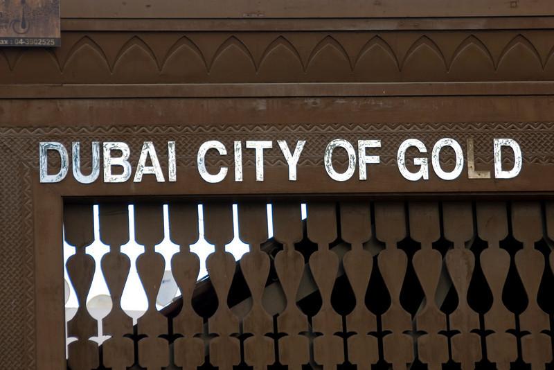 Entrance Sign, Gold Souk - Dubai, UAE