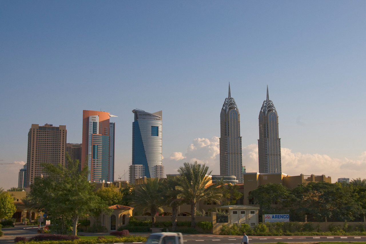 Skyline Near Palms - Dubai, UAE