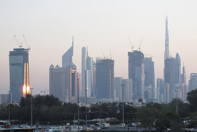 Skyline at Sunset - Dubai, UAE