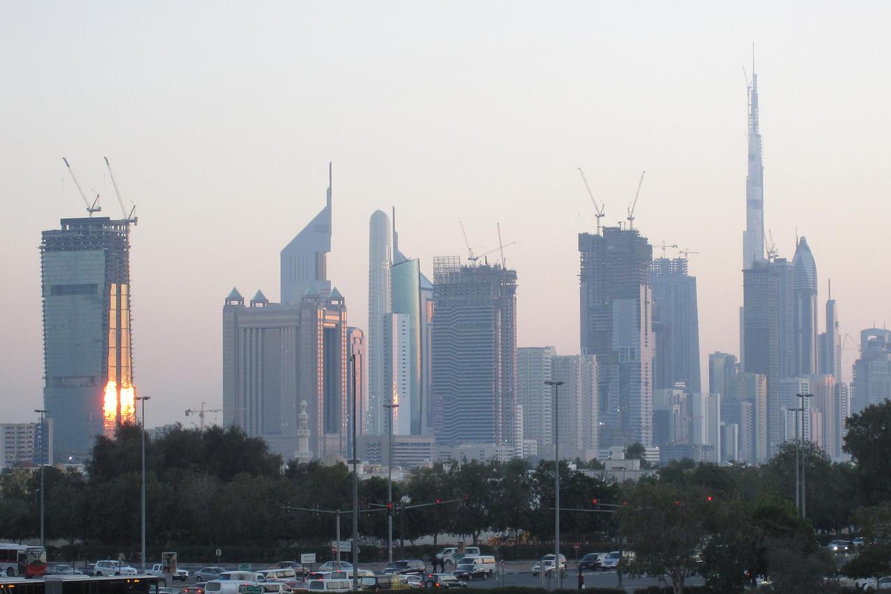 Skyline at Sunset - Dubai, UAE