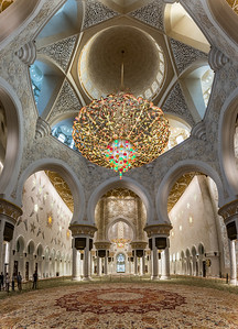 Sheik Zayed Mosque Interior