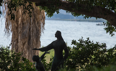 Statue of Jesus by the Sea of Galilee