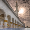 North Wall of the Grand Mosque in Abu Dhabi