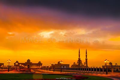 Sunset Behind Al Qasimia University Mosque