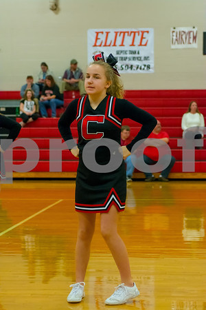 Cheatham Middle BB Cheer Area Tourney Semi Finals
