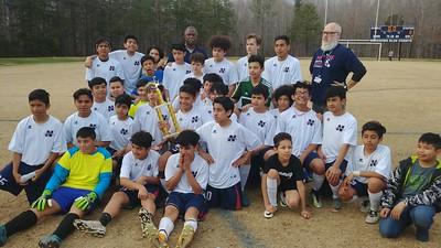 3/28/2018 NAMS vs SAMS Boys Soccer Tournament Championship