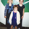 ETR  (middle school) chorus concert - Linsey Burke (left) Casey (right) and Erin Burke (center).
