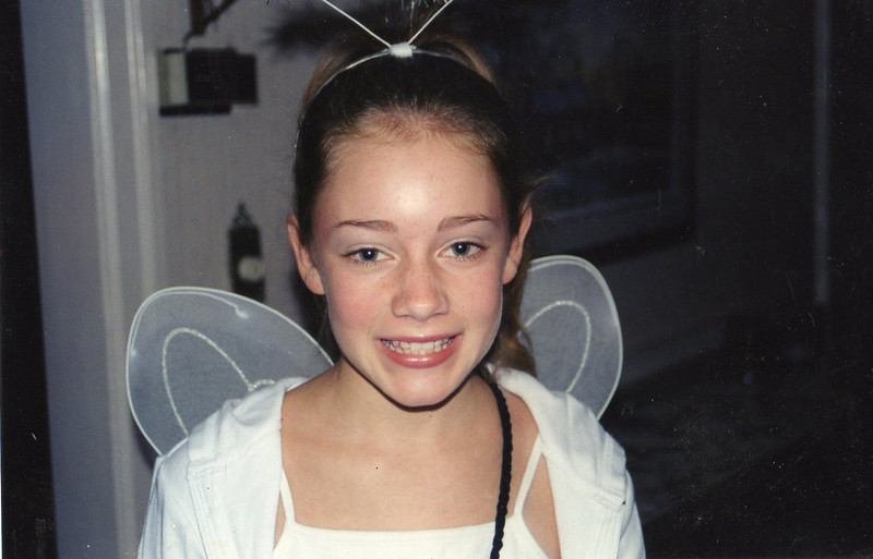 Halloween, as an angel (or fairy?).