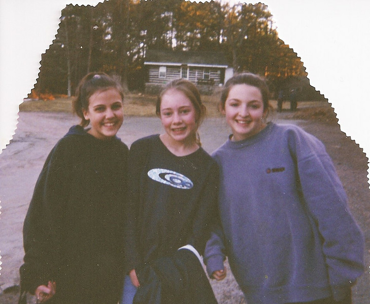 Jackie (left), Casey and Kaitlyn outside our cabin!!