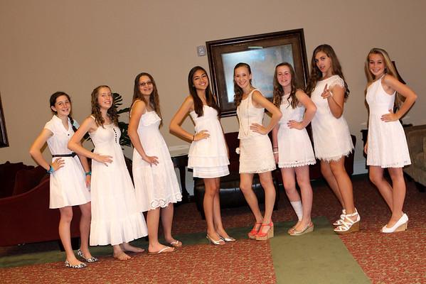 8th grade girls Rubies Ceremony 2013