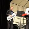 Matthew Kallend introduces the 'keytar' to 6th Grade Band.