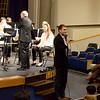 Mr. Jonas Jeswald, Interim Head of Middle School, welcomes the audience.