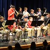 "The 6th Grade Jazz Band plays Duke Ellington's ""Take the A Train,"" with solos by Chase Goldoor and Ajeet Bagga on saxophone and Max Baer on trumpet."